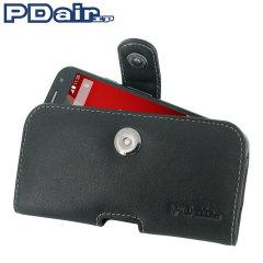 PDair Horizontal Leather Pouch Motorola Moto G 2nd Gen Tasche Schwarz