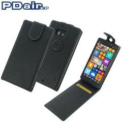 PDair Leder Flip Top Nokia Lumia 930 Tasche in Schwarz