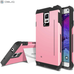 Obliq Skyline Pro Samsung Galaxy Note 4 Stand Case Hülle in Pink