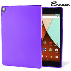 Crystal case like protection with the durability of a silicone case from Encase for the Google Nexus 9 in purple.