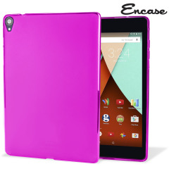 Crystal case like protection with the durability of a silicone case from Encase for the Google Nexus 9 in hot pink.