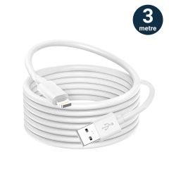 Câble Chargement / Synchronisation USB Lightning Extra Long 3 mètres