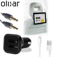 Ce pack fournit tout ce dont vous avez besoin pour votre tablette en voiture. Il maintient votre tablette chargée, offre un système de montage sécurisé et offre la possibilité d'écouter votre musique sur le système stéréo de la voiture.