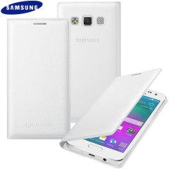 Original Galaxy A3 2015 Tasche Flip Wallet Cover in Weiß