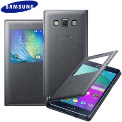 Offizielle Samsung Galaxy A5 Tasche S View Cover in Charcoal
