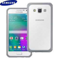 Offizielle Samsung Galaxy A3 Protective Cover Plus Hülle in Hellgrau