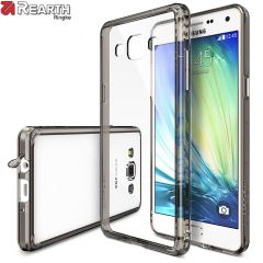 Protect the back and sides of your Samsung Galaxy A5 2015 with this incredibly durable and crystal clear backed Fusion Case by Ringke, with smoke black bumper.