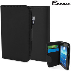 Encase Samsung Galaxy S3 Mini Leather-Style Wallet Case - Black