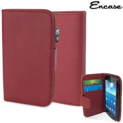 Funda Samsung Galaxy S3 Mini Encase Tipo Cuero y Cartera - Roja