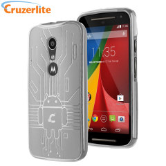 Keep your Moto G 2nd Gen protected from damage with this Android-circuitry inspired, durable clear coloured TPU case by Cruzerlite.