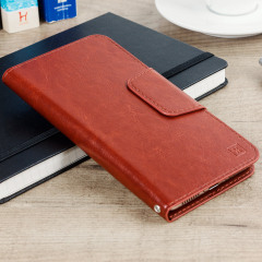 Encase Rotating 5.5 Inch Leather-Style Universal Phone Case - Bruin