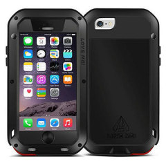 Protect your iPhone 6S / 6 with one of the toughest and most protective cases on the market, ideal for helping to prevent possible #bendgate damage - this is the black Love Mei Powerful Protective Case.