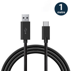 Olixar USB-C Charging Cable with USB 3.0 - Black 1m
