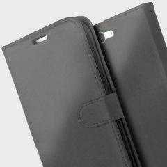 Encase Leren Stijl Wallet Case voor de Huawei Ascend G7 - Zwart