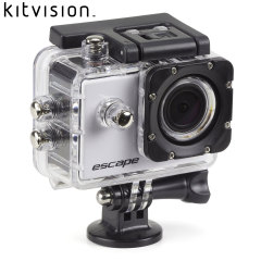 The Kitvision Escape HD5 Action Video Camera comes packed ready for action and adventure with a waterproof case, bike mount, helmet mount and more. Film all your outdoor adventures including biking, diving, skiing and any other pursuits!