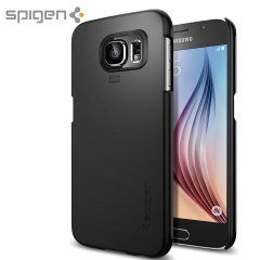 Spigen Thin Fit Shell Case Samsung Galaxy S6 Hülle in Smooth Black