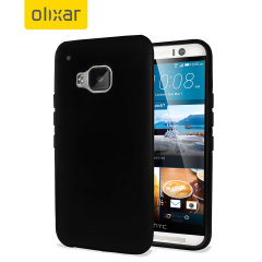 Custom moulded for the HTC One M9, this solid black Olixar FlexiShield case provides slim fitting and durable protection against damage.
