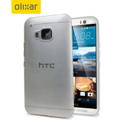 Funda HTC One M9 Olixar FlexiShield - Blanca Transparente