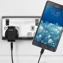 Charge your Samsung Galaxy Note Edge quickly and conveniently with this compatible 2.4A high power charging kit. Featuring mains adapter and USB cable.