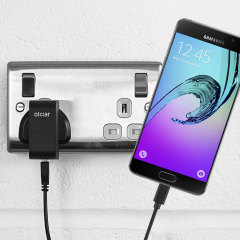 Charge your Samsung Galaxy A5 quickly and conveniently with this compatible 2.5A high power charging kit. Featuring mains adapter and USB cable.