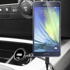 Gardez votre Samsung Galaxy A7 complètement chargé grâce à ce chargeur voiture de 2.4A avec un cordon spiral extensible. De plus, vous pouvez charger un appareil supplémentaire grâce au port USB intégré.