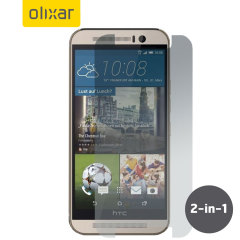 Keep your HTC One M9's screen in pristine condition with this 2 pack of Olixar scratch-resistant screen protectors.