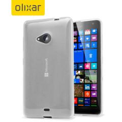Custodia Olixar FlexiShield per Nokia Lumia 535 - Trasparente