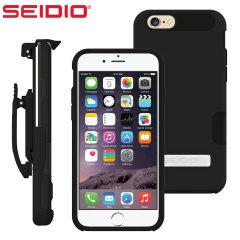 Seidio Dilex Apple iPhone 6S /6 Hülle mit Standfuß und Holster Schwarz