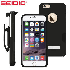Skydda din iPhone 6S Plus /6 Plus med det svarta skalet Dilex från Seidio. Skalet erbjuder ett stötskydd med två samverkande skikt och inkluderar ett integrerat stativ och bältesklämma.
