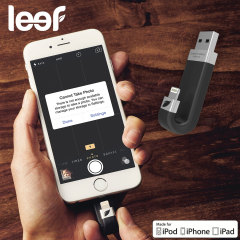 Leef iBridge 128GB Mobile Storage Drive for iOS Devices - Black