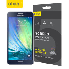 Keep your Samsung Galaxy A7 2015's screen in pristine condition with this 5-in-1 Olixar scratch-resistant screen protector pack.