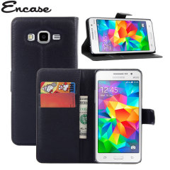Encase Leather-Style Samsung Galaxy Grand Prime Wallet Case - Black
