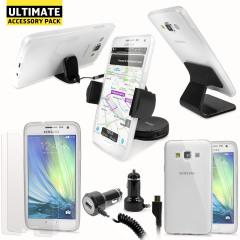 Ce pack ultime d'accessoires Samsung Galaxy A7 2015 comprend tous les indispensables pour votre smartphone. Ce pack a été conçu pour protéger et ranger votre Samsung Galaxy A7 que ce soit à la maison, au bureau ou même dans votre véhicule.