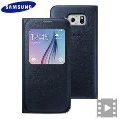 Custodia S-View originale Samsung per Galaxy S6 - Nero