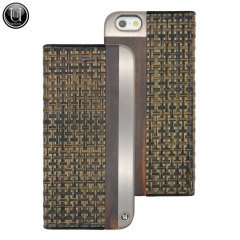 Uunique Aluminium Edge Cane Weave iPhone 6 Folio Case - Brown