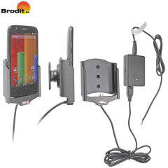 Charge and use your Motorola Moto G in your vehicle with this Brodit active holder with Molex adapter system and 2A charger.