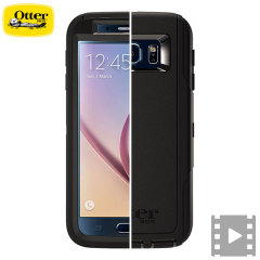 Protect your Samsung Galaxy S6 with the toughest and most protective case on the market - the OtterBox Defender Series in black.