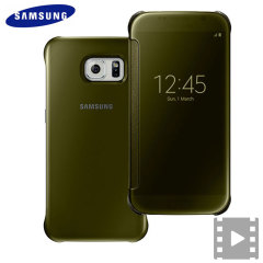 This Official Samsung Clear View Cover in gold is the perfect way to keep your Galaxy S6 smartphone protected whilst keeping yourself updated with your notifications thanks to the clear view front cover.