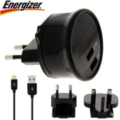 Energizer Micro USB Dual netadapter High Power 3.1A - EU& UK adapters