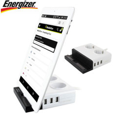 Energizer 3 USB Port Tab Station With Dual EU Power Outlets