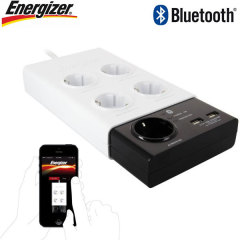Energizer Wireless Controlled EU Power Outlet Bar with 2 USB ports