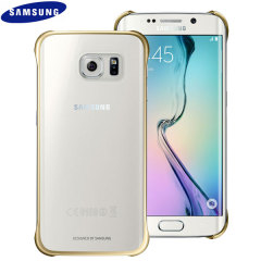 Original Samsung Galaxy S6 Edge Clear Cover Case - Gold