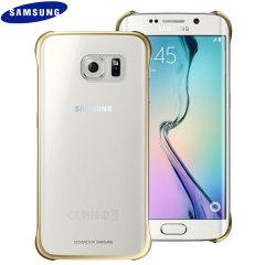 Cover trasparente originale Samsung per Galaxy S6 Edge - Oro