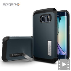 Custodia Tough Armor Spigen per Samsung Galaxy S6 Edge - Metal Slate