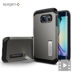 Spigen Tough Armor Samsung Galaxy S6 Edge Case - Gunmetal