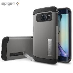 Custodia Slim Armor Spigen per Samsung Galaxy S6 Edge - Gunmetal