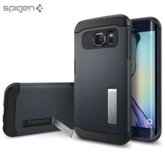 Spigen Slim Armor View Case für Samsung Galaxy S6 Edge - Metal Slate