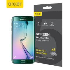 Confezione 5-in-1 di pellicole protettive Olixar per Galaxy S6 Edge