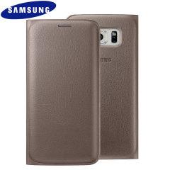 Custodia flip portafogli Originale Samsung per Galaxy S6 Edge - Oro