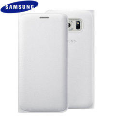 Original Galaxy S6 Edge Tasche Flip Wallet Cover in Weiss